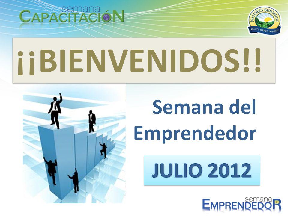 ¡¡BIENVENIDOS!! Semana del Emprendedor JULIO 2012