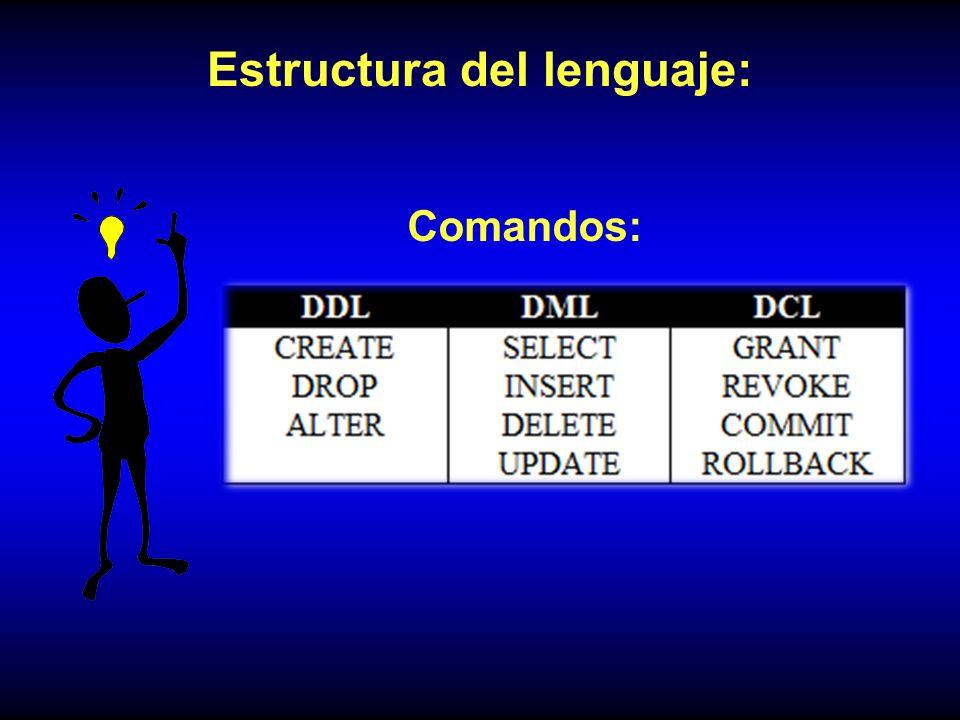 Estructura del lenguaje: