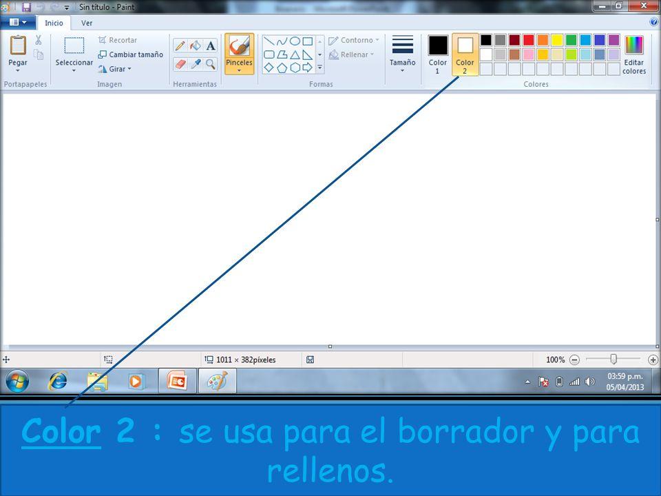 Color 2 : se usa para el borrador y para rellenos.