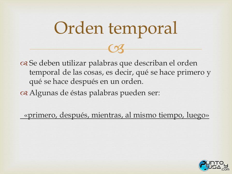 Orden temporal