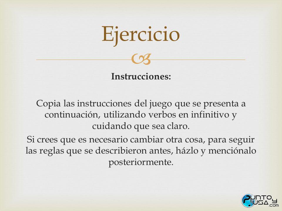 Ejercicio Instrucciones: