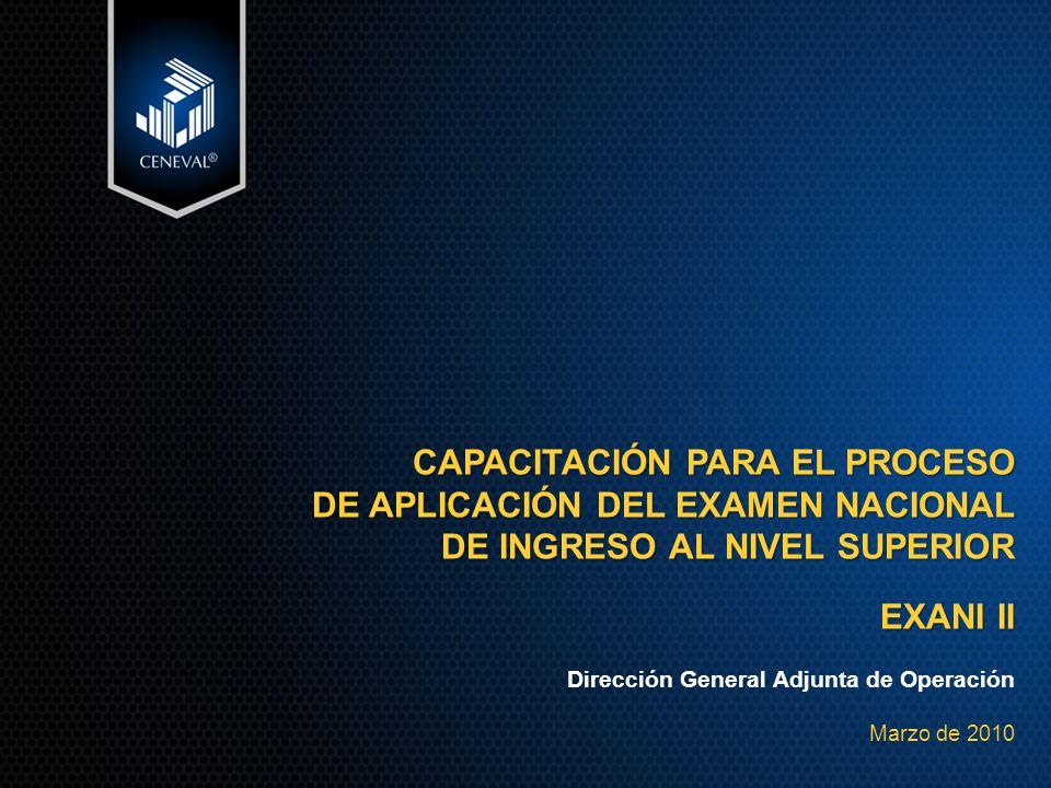 CAPACITACIÓN PARA EL PROCESO DE APLICACIÓN DEL EXAMEN NACIONAL