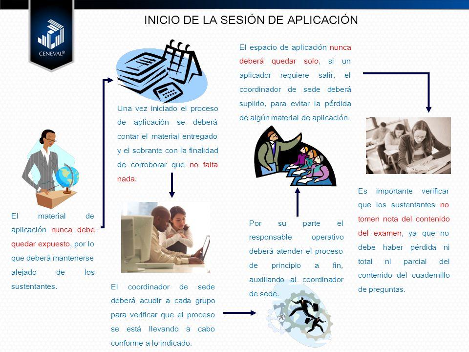INICIO DE LA SESIÓN DE APLICACIÓN
