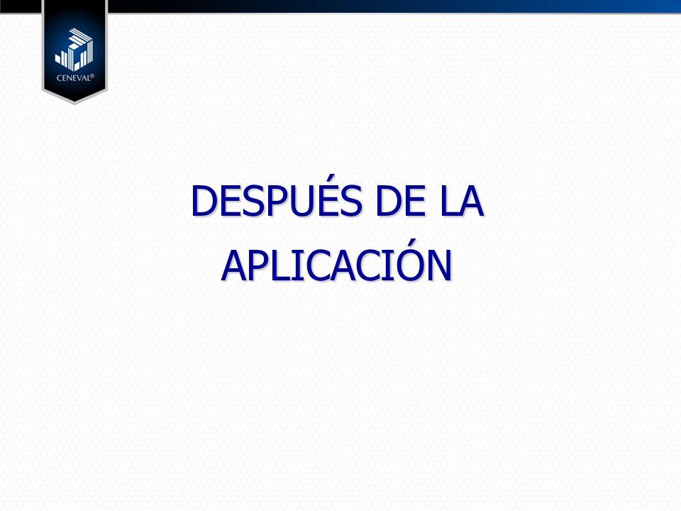 DESPUÉS DE LA APLICACIÓN