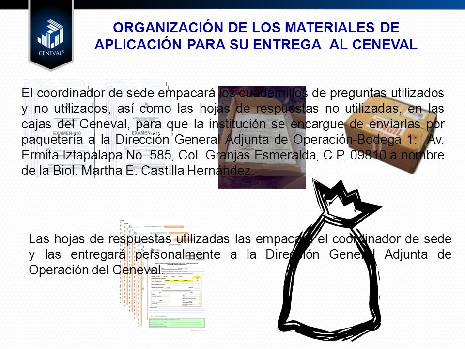 ORGANIZACIÓN DE LOS MATERIALES DE