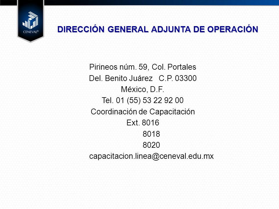 DIRECCIÓN GENERAL ADJUNTA DE OPERACIÓN