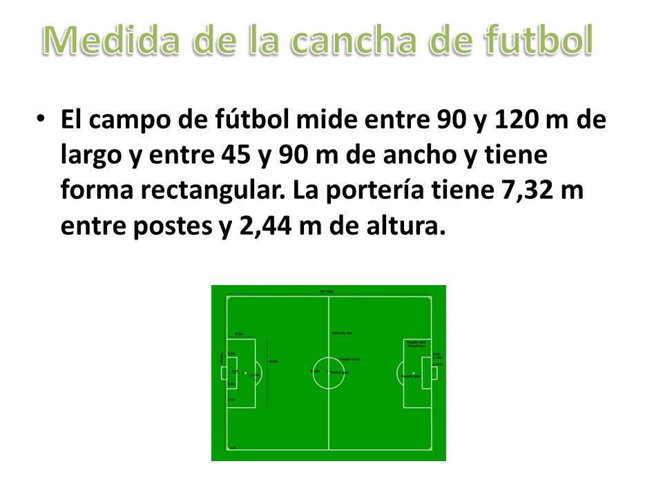 Medida de la cancha de futbol