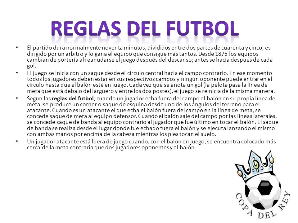 Reglas del futbol