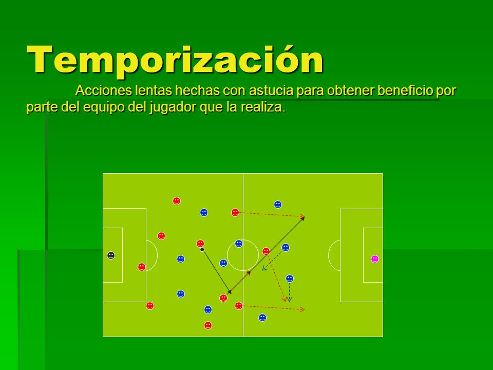 Temporización Acciones lentas hechas con astucia para obtener beneficio por parte del equipo del jugador que la realiza.