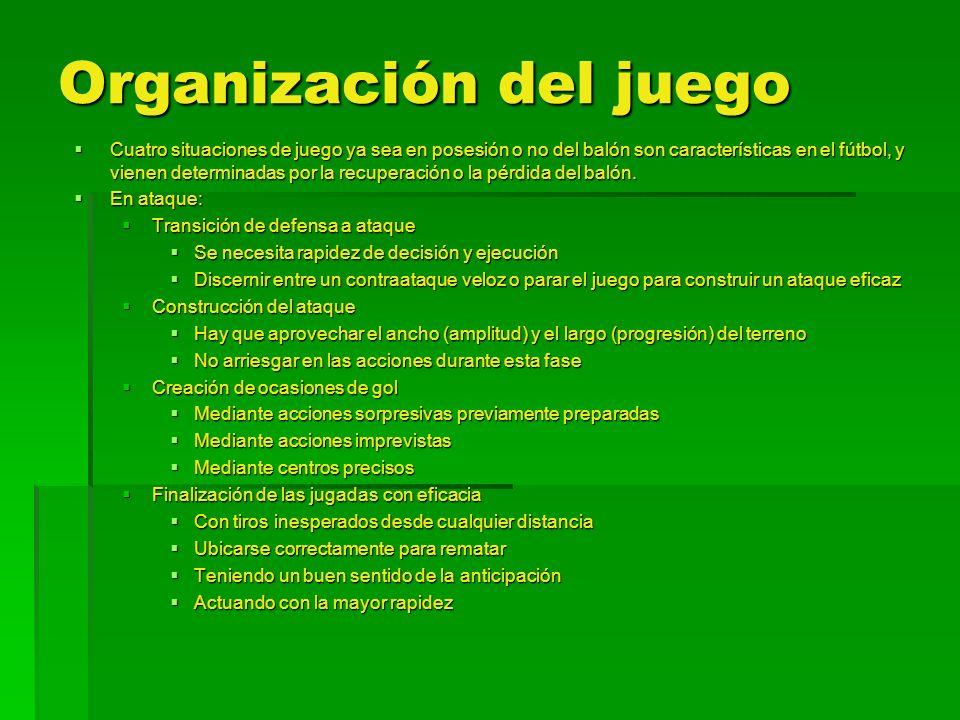 Organización del juego