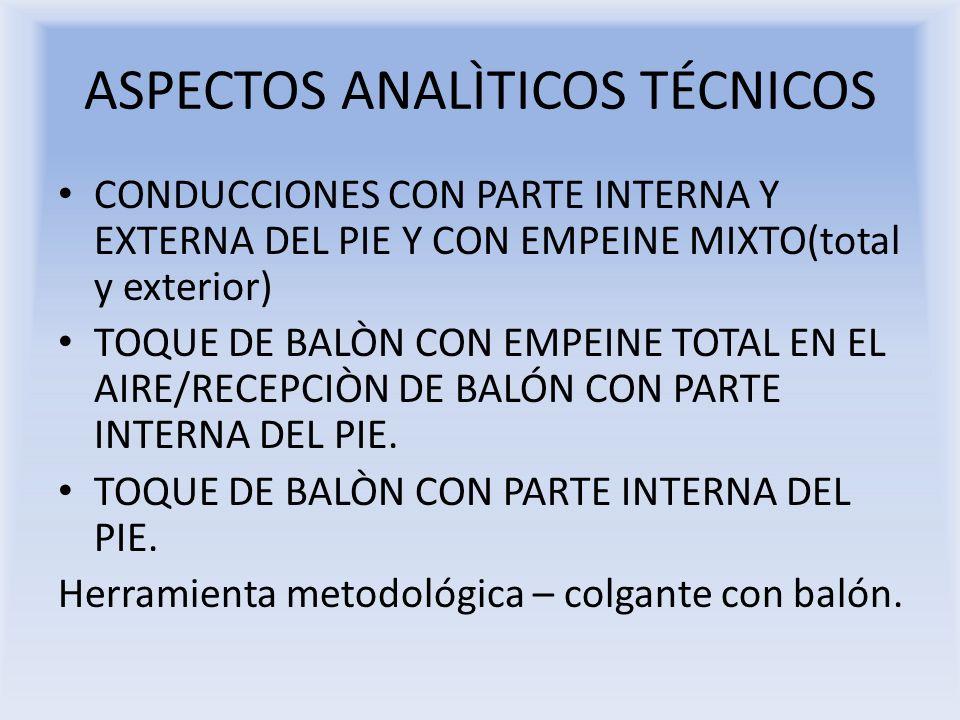 ASPECTOS ANALÌTICOS TÉCNICOS