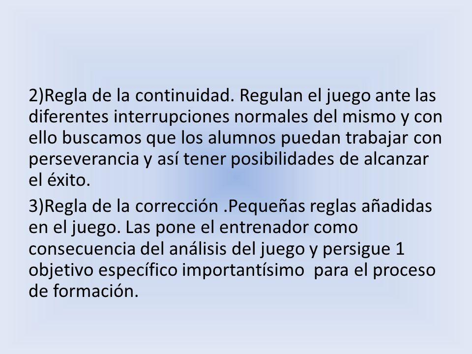 2)Regla de la continuidad