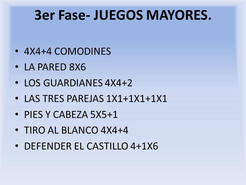 3er Fase- JUEGOS MAYORES.