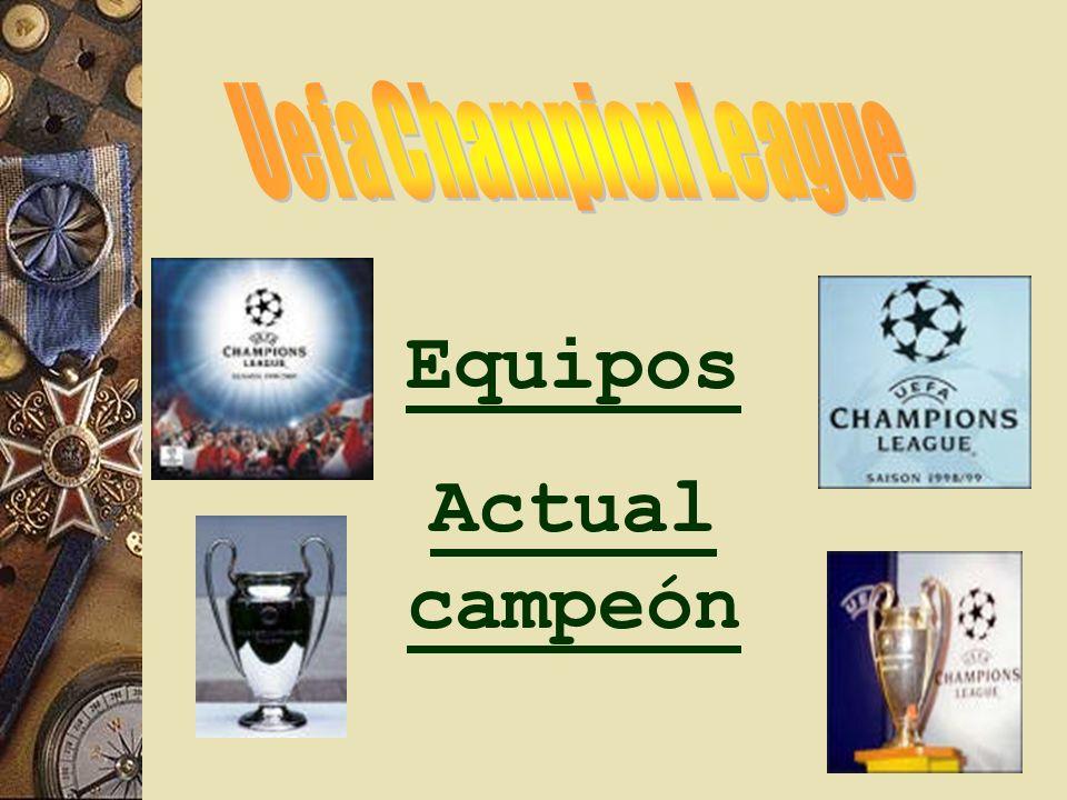 Equipos Actual campeón