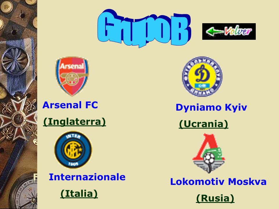 Grupo B Arsenal FC FC Dyniamo Kyiv (Inglaterra) (Ucrania)