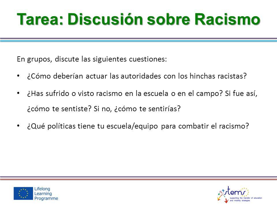 Tarea: Discusión sobre Racismo