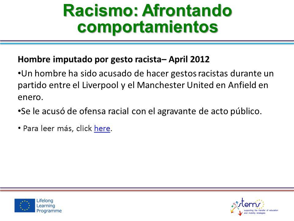 Racismo: Afrontando comportamientos