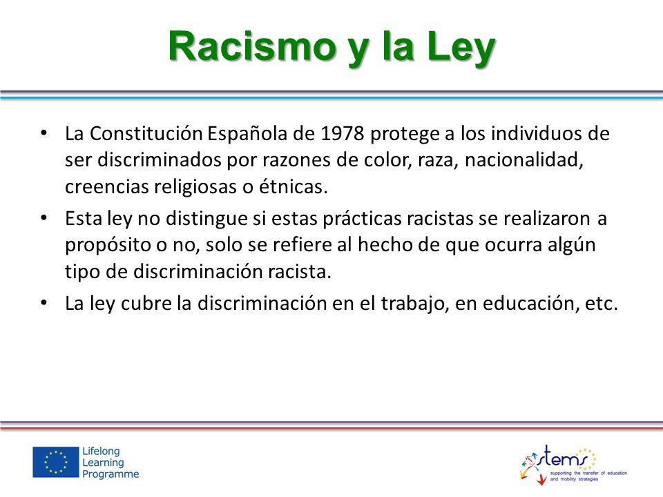 Racismo y la Ley