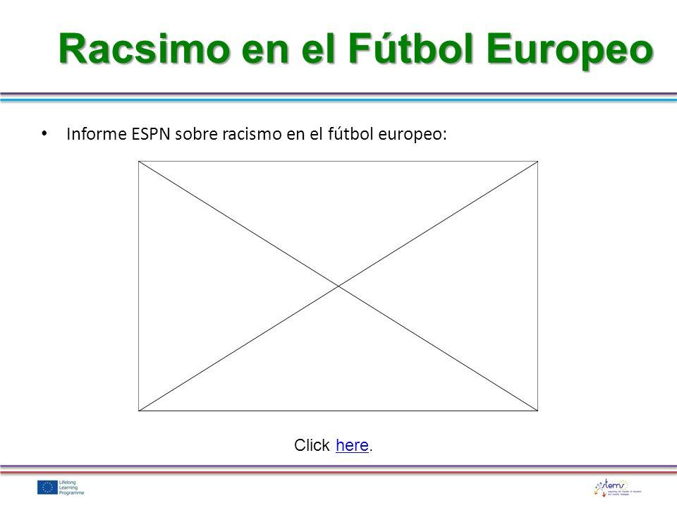 Racsimo en el Fútbol Europeo