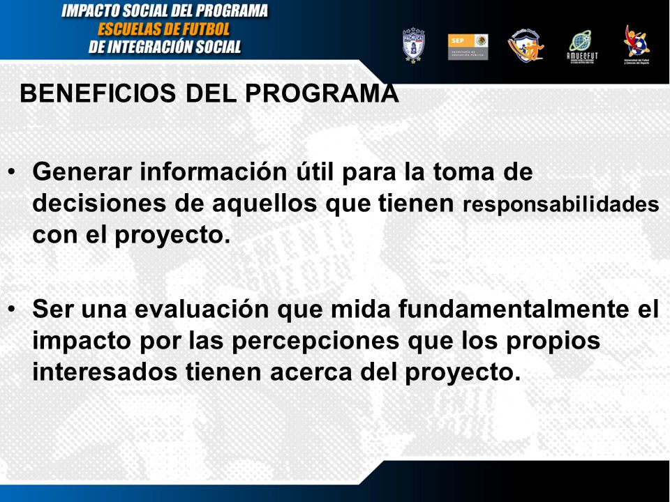 BENEFICIOS DEL PROGRAMA