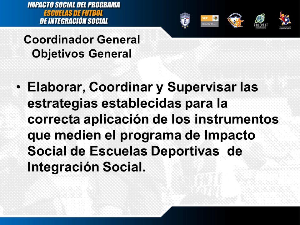 Coordinador General Objetivos General