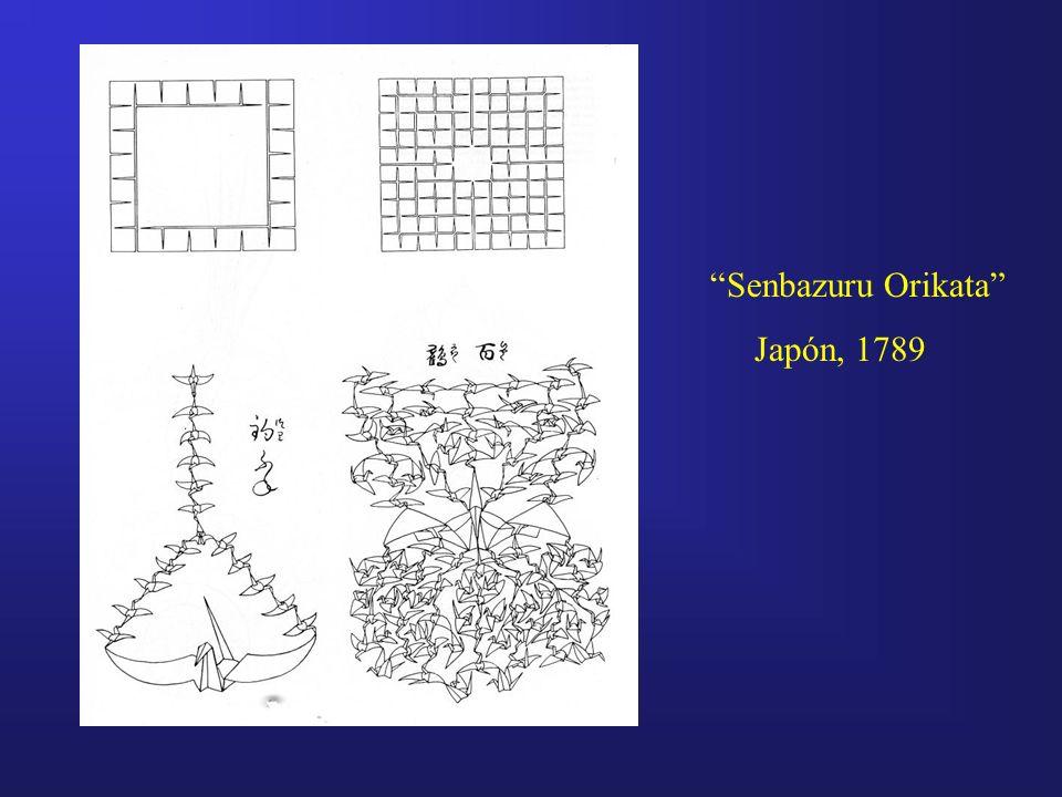 Senbazuru Orikata Japón, 1789