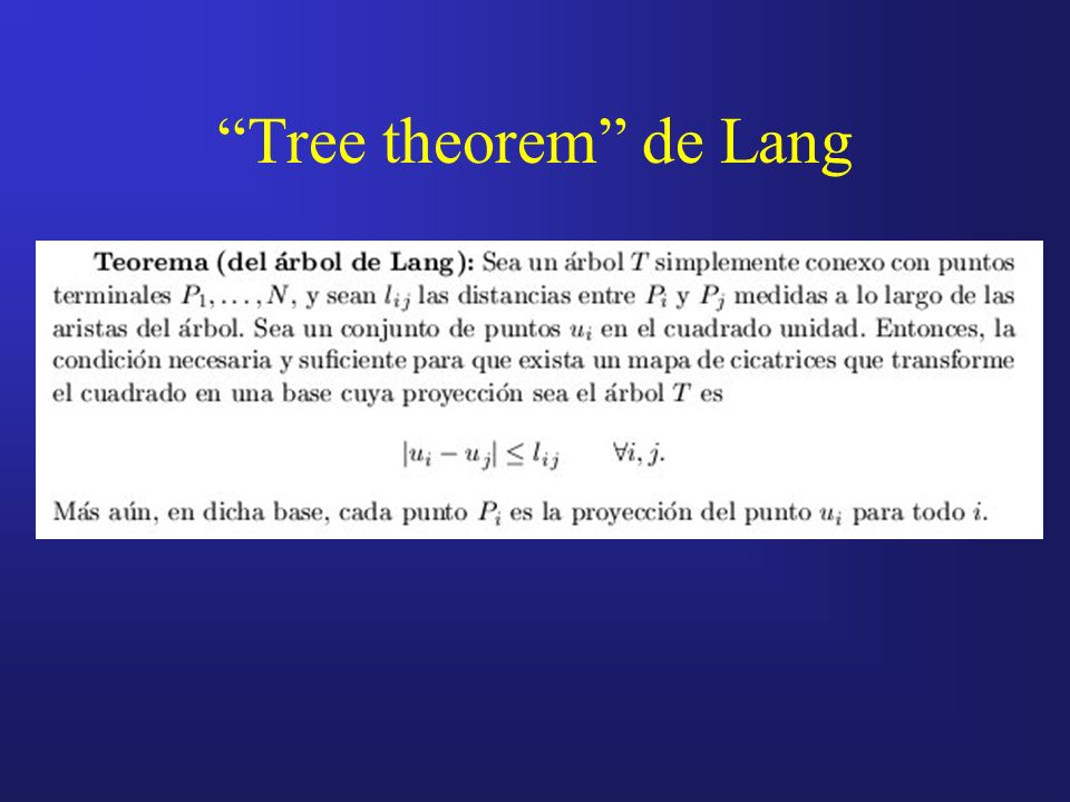 Tree theorem de Lang