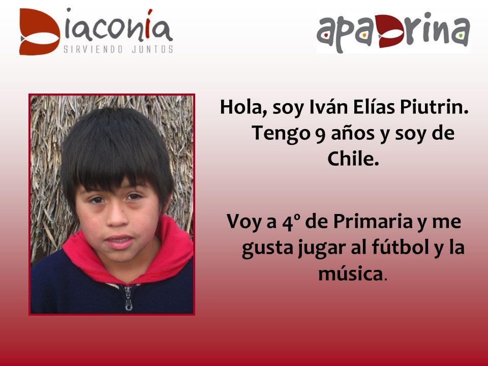 Hola, soy Iván Elías Piutrin. Tengo 9 años y soy de Chile.