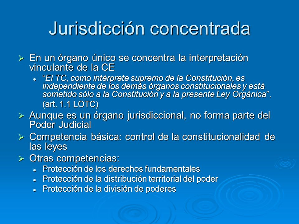 Jurisdicción concentrada