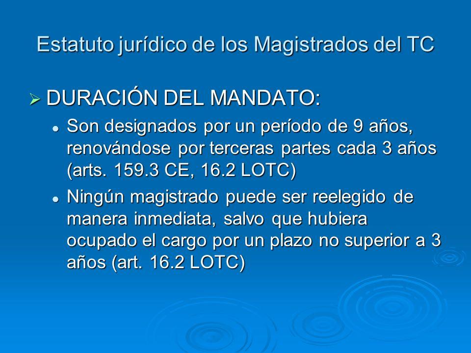 Estatuto jurídico de los Magistrados del TC