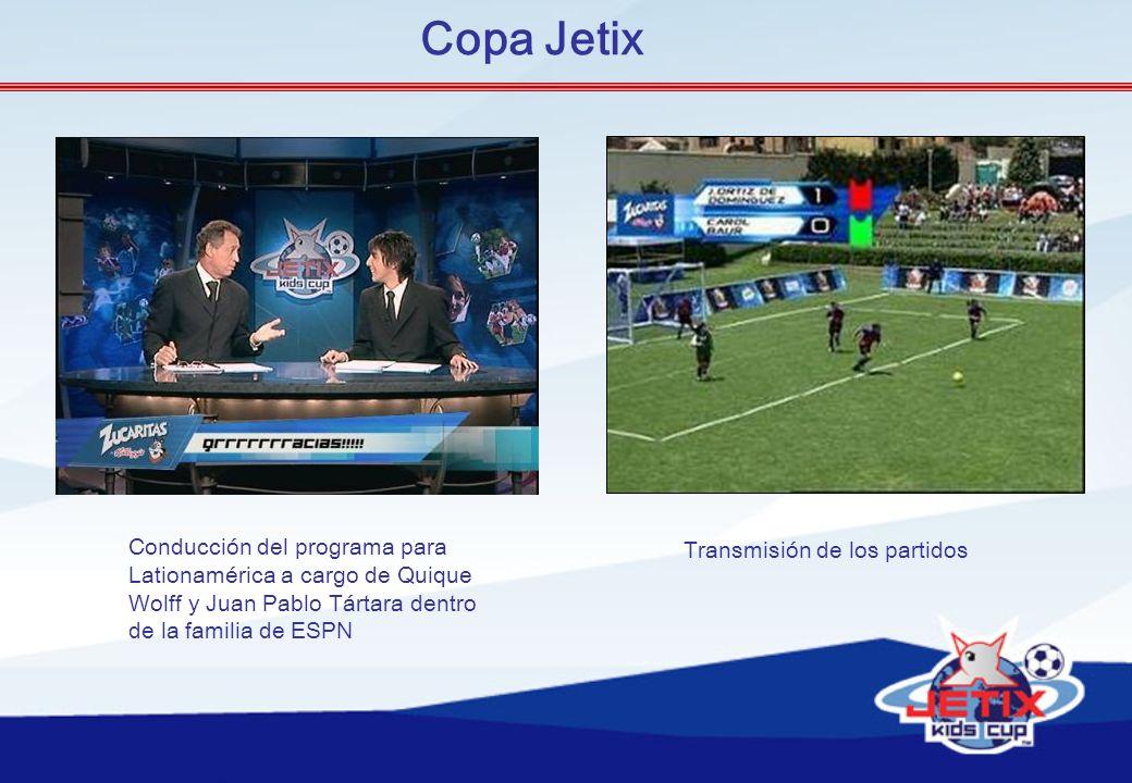 Copa Jetix Conducción del programa para Transmisión de los partidos