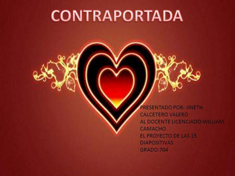 CONTRAPORTADA PRESENTADO POR: JINETH CALCETERO VALERO