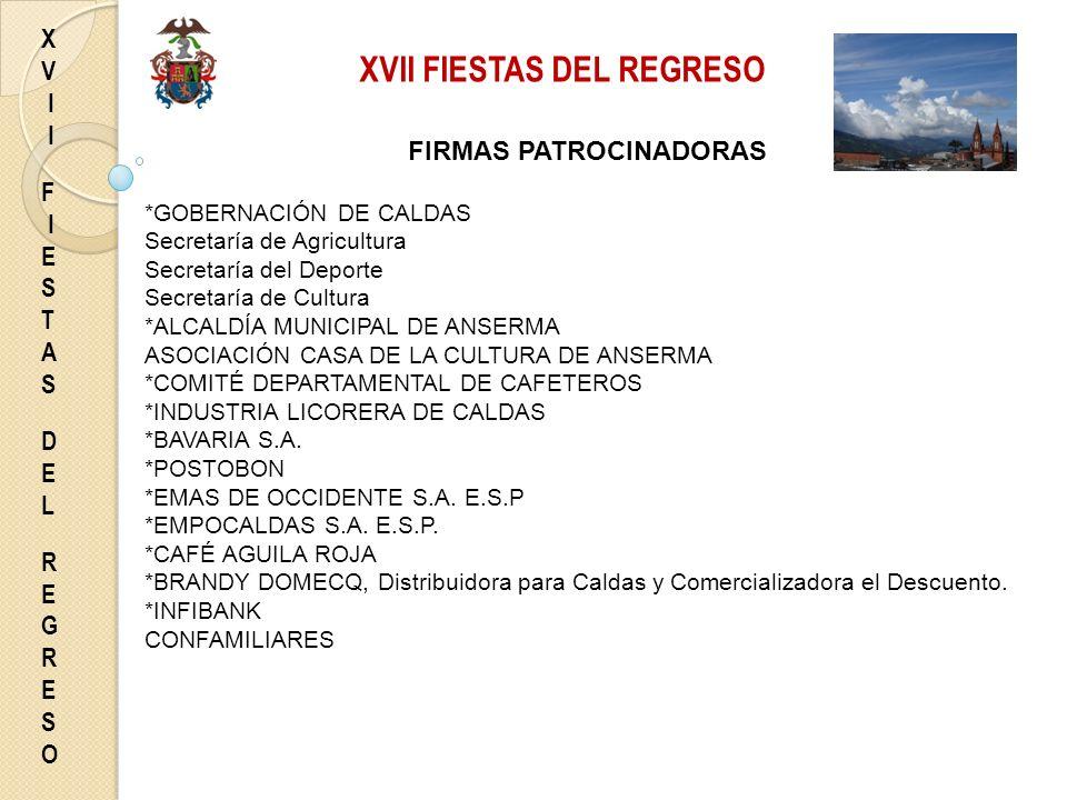 XVII FIESTAS DEL REGRESO
