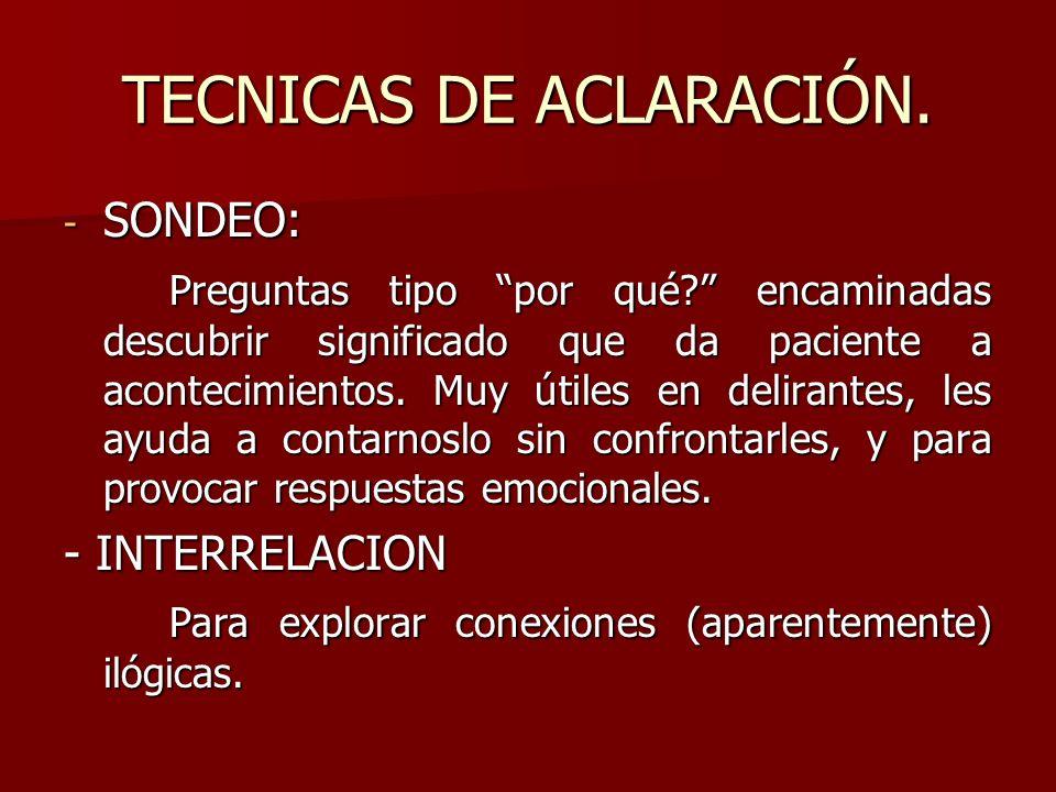 TECNICAS DE ACLARACIÓN.