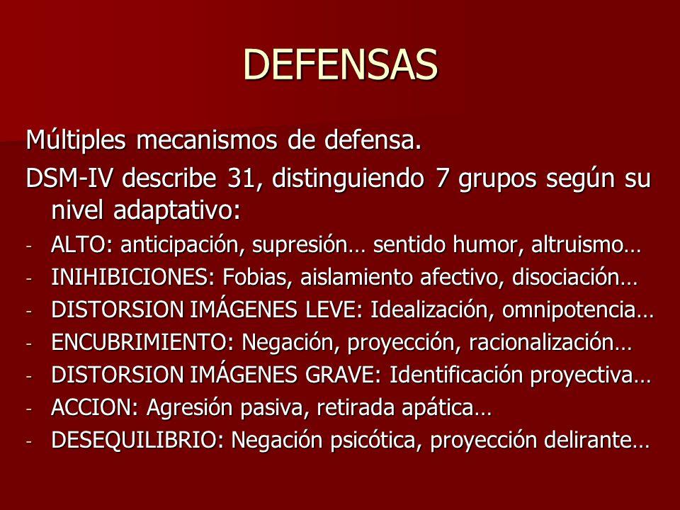 DEFENSAS Múltiples mecanismos de defensa.