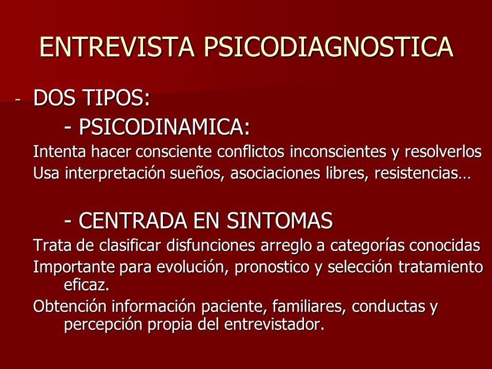ENTREVISTA PSICODIAGNOSTICA