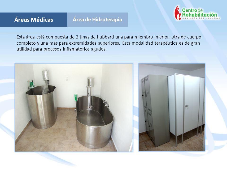 Áreas Médicas Área de Hidroterapia