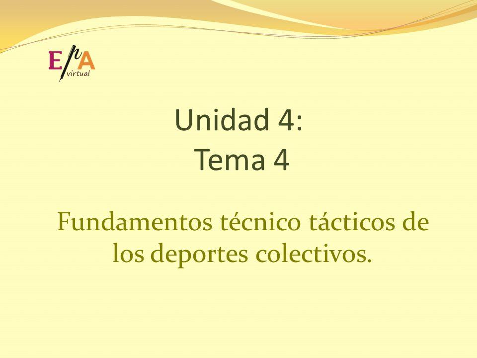 Fundamentos técnico tácticos de los deportes colectivos.