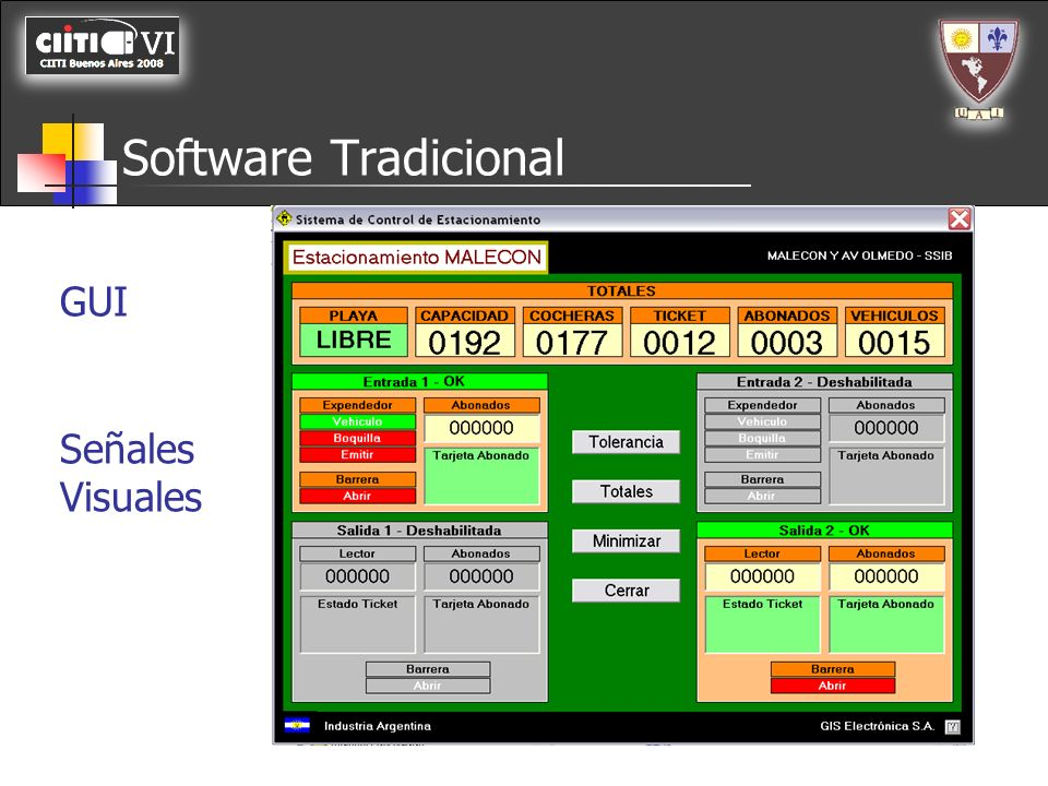 Software Tradicional GUI Señales Visuales