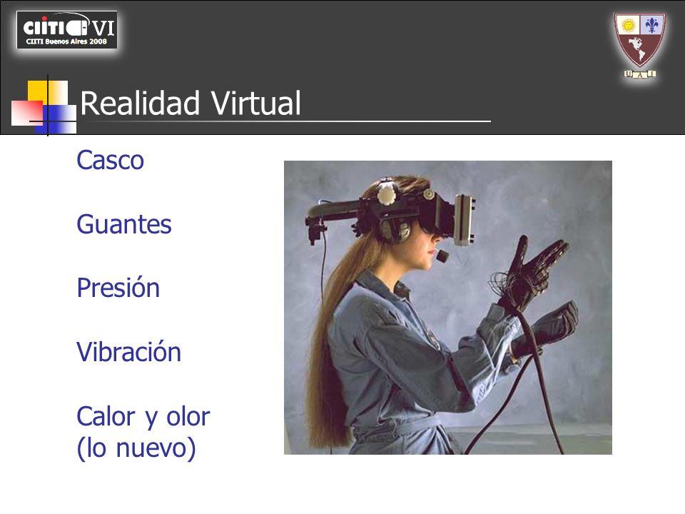 Realidad Virtual Casco Guantes Presión Vibración