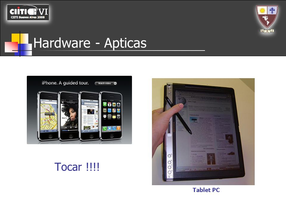 Hardware - Apticas Tablet PC Tocar !!!!
