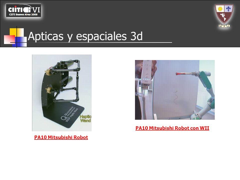 Apticas y espaciales 3d PA10 Mitsubishi Robot con WII
