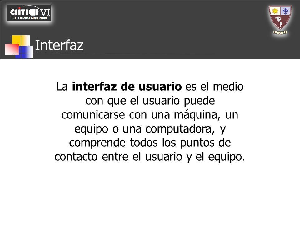 Interfaz