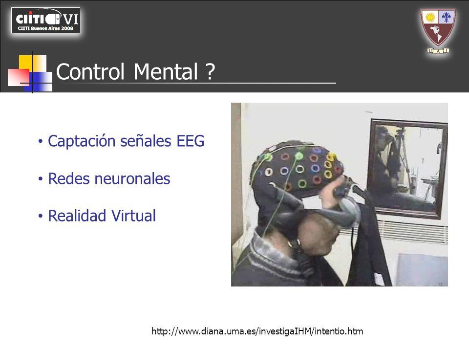 Control Mental Captación señales EEG Redes neuronales