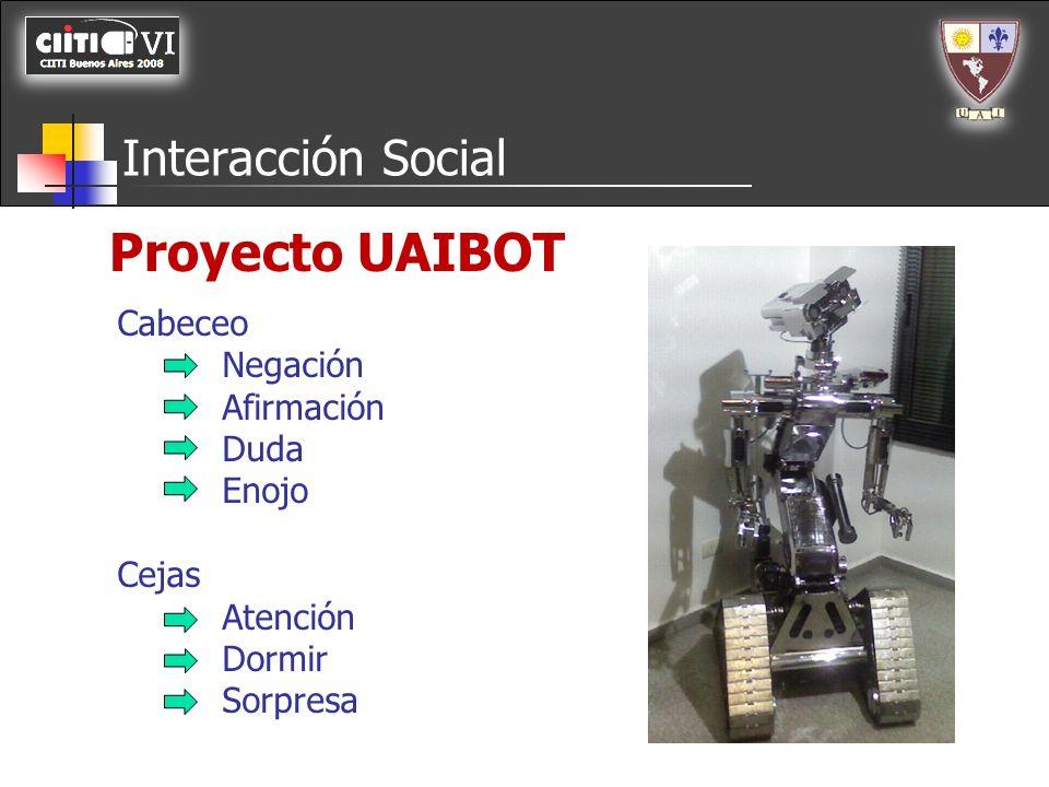 Proyecto UAIBOT Interacción Social Cabeceo Negación Afirmación Duda