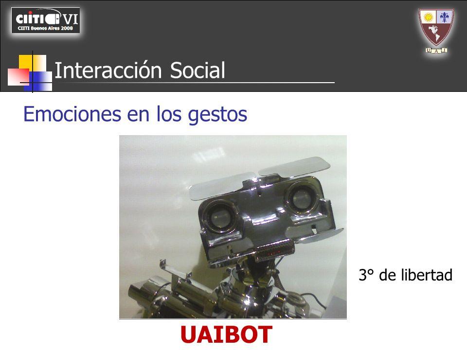 UAIBOT Interacción Social Emociones en los gestos Cejas Cabeceo