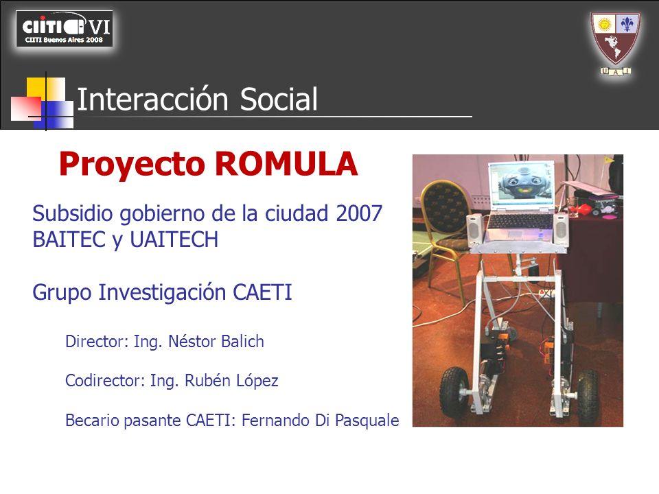 Proyecto ROMULA Interacción Social