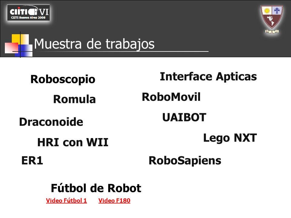 Muestra de trabajos Roboscopio Romula Draconoide HRI con WII