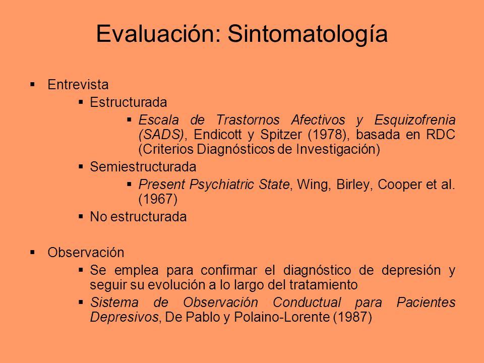 Evaluación: Sintomatología