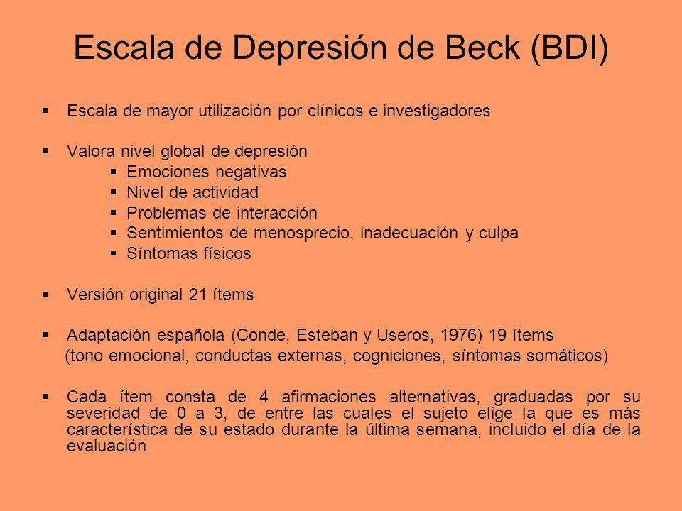 Escala de Depresión de Beck (BDI)